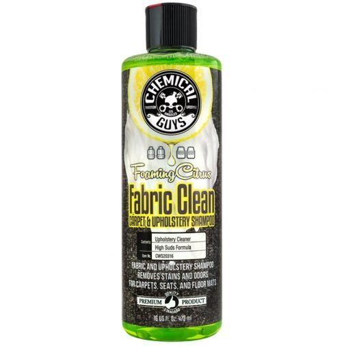 Chemical Guys Fabric Clean, Foaming Citrus, 16 oz. bottle, CWS20316