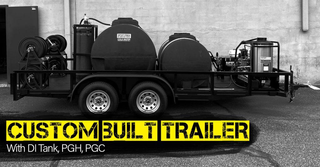 Custom Trailer Build, DI Water Tank, 2 Pressure Washer Systems