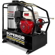 PGH 3504-12-H-GP skid mounted pressure washer, angled view